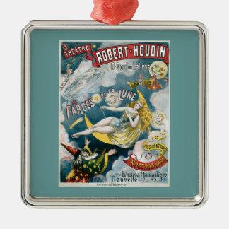 Vintage George Melies Illusion Fantastique Metal Ornament