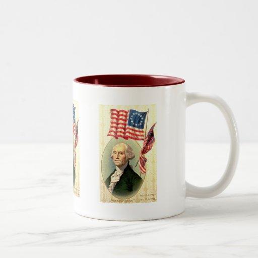 Vintage George Washington americana (3) Tazas