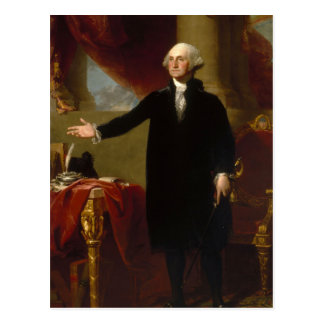 Vintage George Washington Portrait Painting 2 Postcard