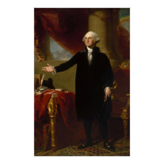 Vintage George Washington Portrait Painting 2 Poster