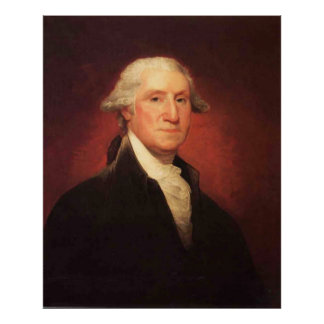 Vintage George Washington Portrait Painting Poster