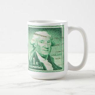 Vintage George Washington Taza Básica Blanca