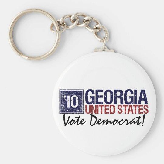 Vintage Georgia de Demócrata del voto en 2010 - Llavero Redondo Tipo Pin