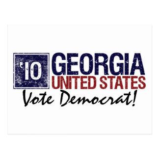Vintage Georgia de Demócrata del voto en 2010 - Postales