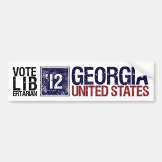 Vintage Georgia del libertario del voto en 2012 - Etiqueta De Parachoque