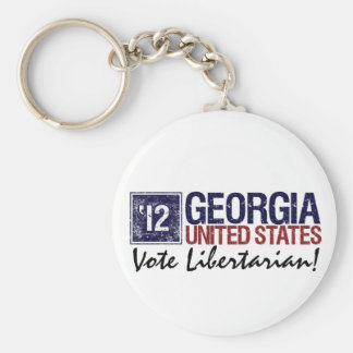 Vintage Georgia del libertario del voto en 2012 - Llavero Redondo Tipo Pin