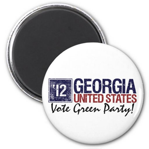 Vintage Georgia del Partido Verde del voto en 2012 Imán De Nevera