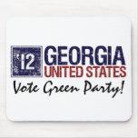Vintage Georgia del Partido Verde del voto en 2012 Alfombrilla De Raton