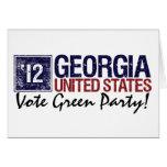Vintage Georgia del Partido Verde del voto en 2012 Tarjeton