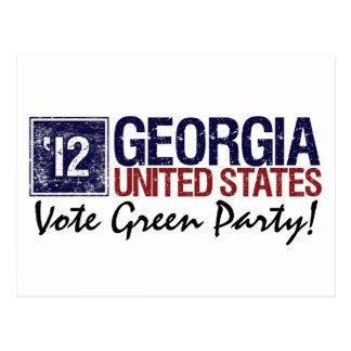 Vintage Georgia del Partido Verde del voto en 2012 Postales