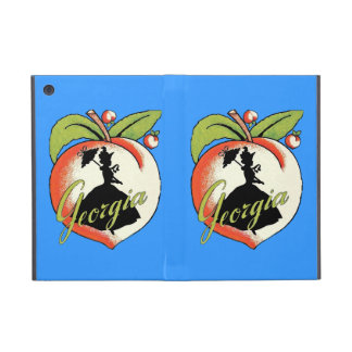 Vintage Georgia Peach Silhouette Southern Bell iPad Mini Cover