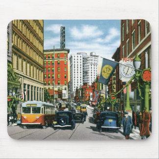 Vintage Georgia Street Scene Mouse Pad