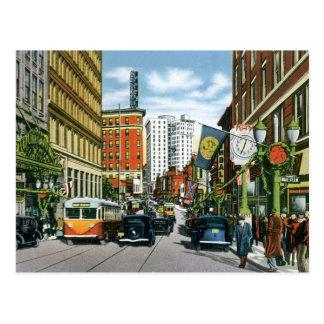 Vintage Georgia Street Scene Postcard