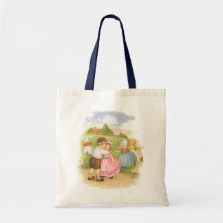 Vintage Georgie Porgie Mother Goose Nursery Rhyme Bag
