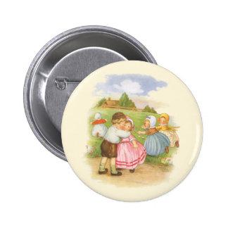 Vintage Georgie Porgie Mother Goose Nursery Rhyme Pinback Buttons