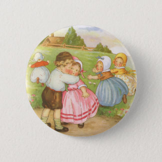 Vintage Georgie Porgie Mother Goose Nursery Rhyme Button