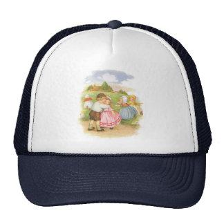 Vintage Georgie Porgie Mother Goose Nursery Rhyme Trucker Hat