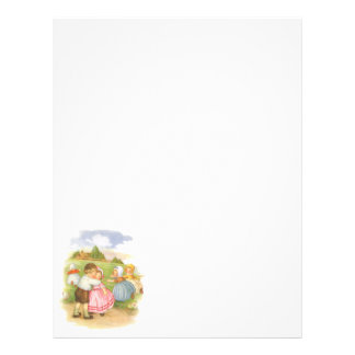Vintage Georgie Porgie Mother Goose Nursery Rhyme Letterhead