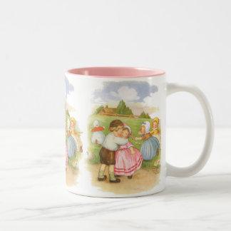 Vintage Georgie Porgie Mother Goose Nursery Rhyme Coffee Mugs