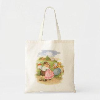 Vintage Georgie Porgie Mother Goose Nursery Rhyme Tote Bag