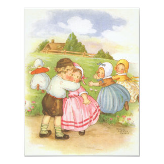 Vintage Georgie Porgie Nursery Rhyme Invitation