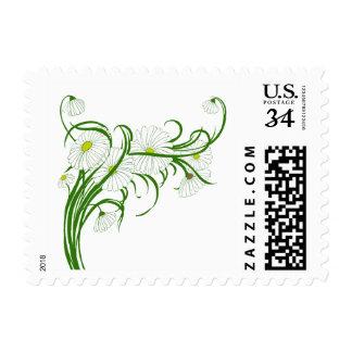 Vintage Gerber Daisy Flowers Spring Floral Bouquet Postage Stamps