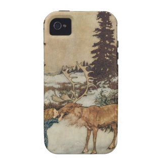 Vintage Gerda and the Reindeer by Edmund Dulac Case-Mate iPhone 4 Cover