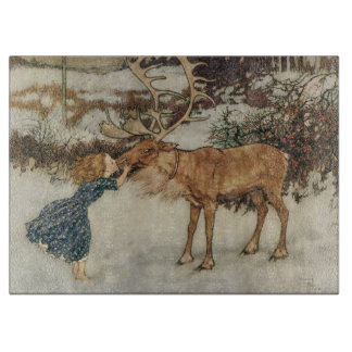 Vintage Gerda and the Reindeer by Edmund Dulac Cutting Board