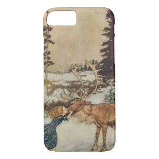 Vintage Gerda and the Reindeer by Edmund Dulac iPhone 7 Case