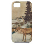 Vintage Gerda and the Reindeer by Edmund Dulac iPhone SE/5/5s Case