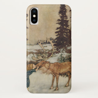 Vintage Gerda and the Reindeer by Edmund Dulac iPhone X Case