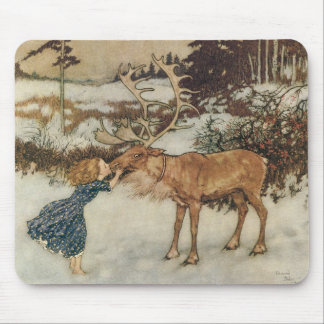 Vintage Gerda and the Reindeer by Edmund Dulac Mouse Pad