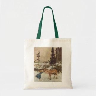 Vintage Gerda and the Reindeer by Edmund Dulac Tote Bag