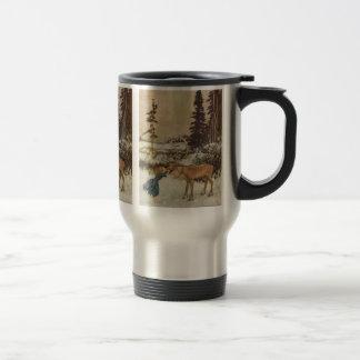 Vintage Gerda and the Reindeer by Edmund Dulac Travel Mug