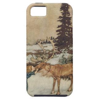 Vintage Gerda y el reno de Edmund Dulac iPhone 5 Case-Mate Coberturas