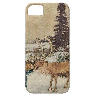 Vintage Gerda y el reno de Edmund Dulac iPhone 5 Case-Mate Protector