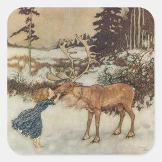 Vintage Gerda y el reno de Edmund Dulac