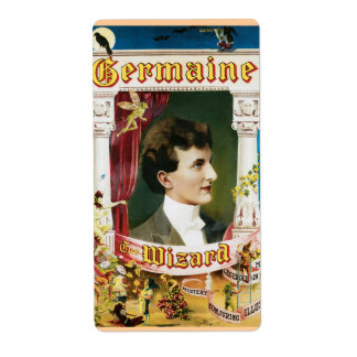 Vintage Germaine The Wizard Magic Poster Label