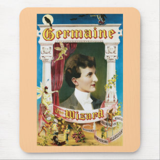 Vintage Germaine The Wizard Magic Poster Mouse Pad
