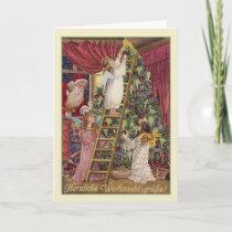Vintage German Angels Christmas Card