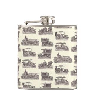 Vintage German Automobiles for Antique Car Club Hip Flask