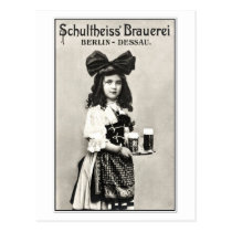 Vintage German Berlin beer brewery photo ad Postcards