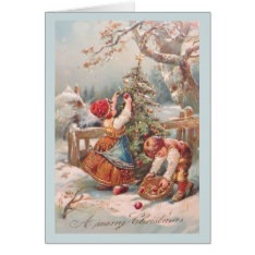 Vintage German Children Christmas Card at Zazzle