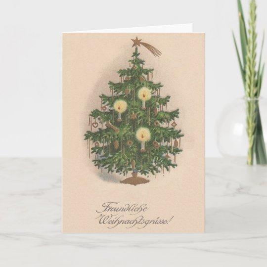 German Christmas Tree.Vintage German Christmas Tree Card