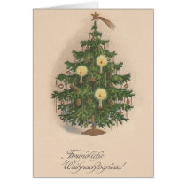 Vintage German Christmas Tree Card