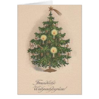 Vintage German Christmas Tree Card