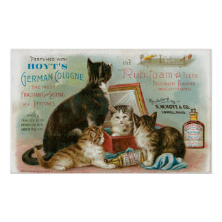 Vintage German Cologne Advertising Poster