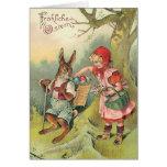 Vintage German Easter Bunny Card