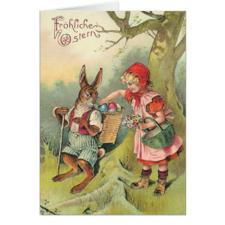 Vintage German Easter Bunny Card