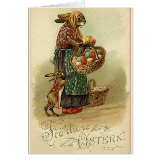 Vintage German Easter Card.  Fröhliche Ostern! Card